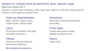 enlaces serp google
