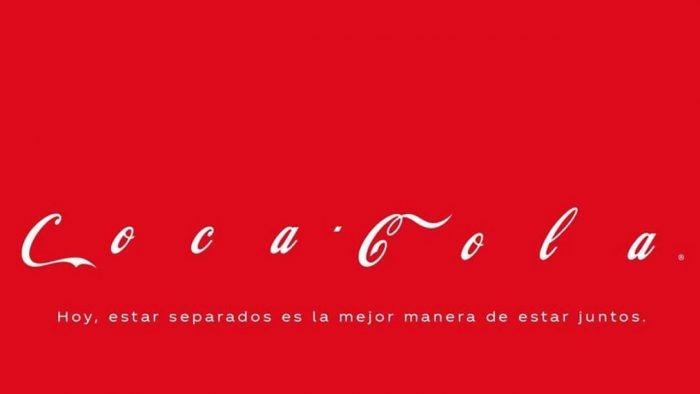 logo de Coca Cola ante la Covid 19